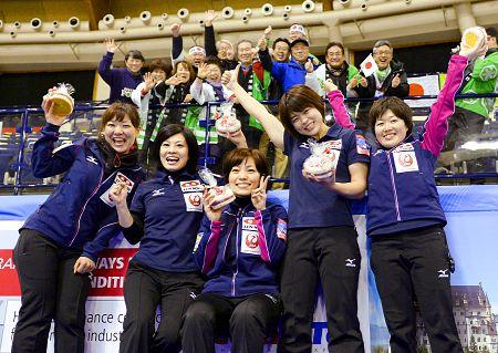 ソチ五輪出場権を獲得したカーリング女子チーム