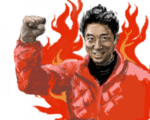 燃える男松岡修造