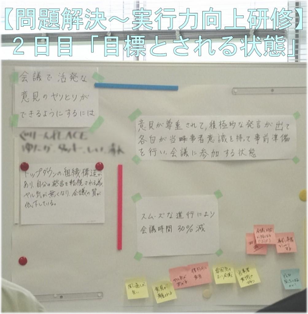 【問題解決~実行力向上研修】 2日目「目標とされる状態」
